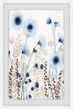 Marmont Hill Sweet Flower Field Ii Framed Print - 36 x 24 Watercolor Paintings, Watercolors, Giclee Print, Bloom, Framed Prints, Tapestry, Cool Stuff, Paper, Sweet
