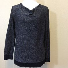 Black and Silver Sweater by Dana Buchman Ladies Large, Machine Washable Cotton Blend by Oldtonewjewels on Etsy