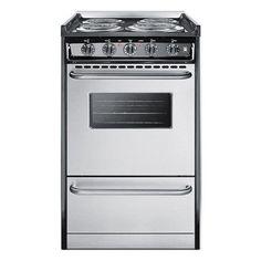 Summit 20 Electric Range Primary Image Stove Oven Kitchen Condo