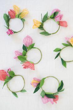 Cupcake Wrapper Flower Votives DIY
