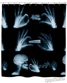 X-Ray Shower Curtain - RageOn! - The World's Largest All-Over-Print Online Store