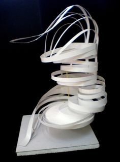 Viewing Tower by jp Kwang, via Behance Concept Models Architecture, Architecture Model Making, Conceptual Architecture, Paper Architecture, Amazing Architecture, Paper Structure, Tower Design, Arch Model, 3d Texture