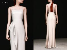 Inspired by Natasha Poly's Cannes dress. 3 colors. There might be some clipping at the bottom of the dress when the sim walks.  Found in TSR Category 'Sims 4 Female Formal'