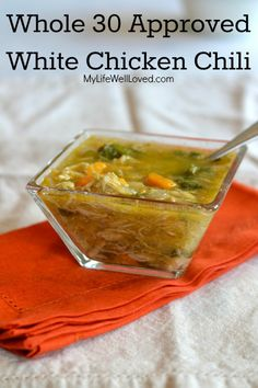 Whole 30 White Chicken Chili (Paleo). Have made this soup 3x in two weeks, it's…