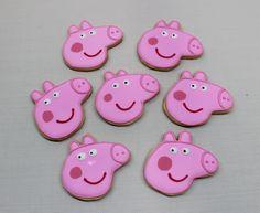 Peppa Pig Cookies by Violeta Glace