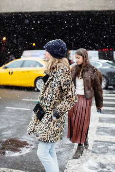 Let It Snow | NYFW FW 2016 | Street Style | Photo: The Sartorialist