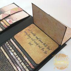 Haz conmigo éste mini album en cascada. Utilizaremos dos tipos de cascada: cascada manual y cascada deslizante y para decorarlo journalig card de Prima Marketing.