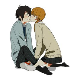 Shizuku and Haru Yoshida from My Little Monster My Little Monster, Little Monsters, Shizuku And Haru, Shizuku Mizutani, Manga Couples, Cute Anime Couples, I Love Anime, Me Me Me Anime, Haru Yoshida