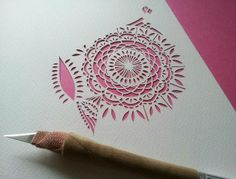 #papercraft #papercutting Owl Paper Cutting in Progress by all things paper, via Flickr