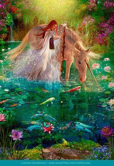 unicorn  ¿que belleza?