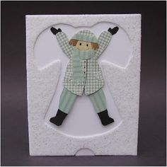 interactive snow angel card - arms and legs move - bjl