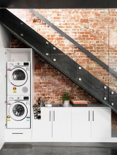 """Fantastic """"laundry room stackable washer dryer"""" info is offered on our website. Read more and you wont be sorry you did. Laundry Cupboard, Laundry Room Organization, Laundry Rooms, Laundry Shelves, Laundry Closet, Stair Storage, Closet Storage, Storage Shelves, Storage Ideas"""