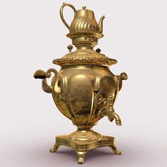 copper samovar 3d ma - copper Samovar... by Mandragoras -- Maybe I should have this for when Masha and Bear come to visit