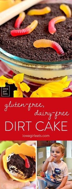 Help anyone with a gluten intolerance or dairy allergy feel like a kid again with Gluten-Free, Dairy-Free Dirt Cake! Rich and creamy, it's the perfect summertime treat. | iowagirleats.com