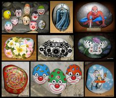 Painted rocks...Such a great assortment of beautifully painted stones!