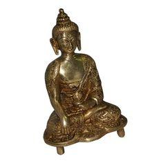 Hindu Medicine Buddha Sculpture Statue in Brass