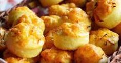 Cheese puffs with marmite