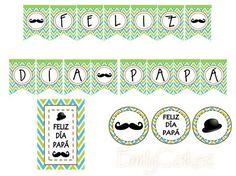 Kit Día del Padre Decoración para el día del padre! $45.000 1 Guirnalda 10 Cupcake toppers (decoración para cupcakes) 1 Afiche tamaño carta