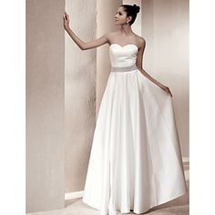 Classic & Timeless/Elegant & Luxurious/Chic & Modern/Glamorous & Dramatic/Reception A-line/Princess Strapless/Sweetheart Floor-length Wedding Dress ( – GBP £ 49.69