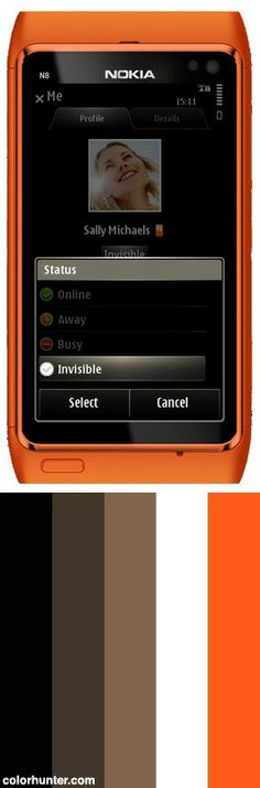 Nimbuzz Symbian With Invisible Mode Color Scheme