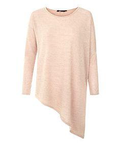 Camel Fine Knit Asymmetric Long Sleeve Top | New Look