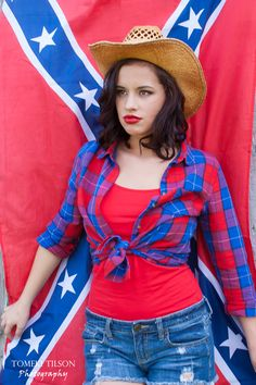 country girl photos with rebel flag
