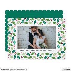 Mistletoe Holiday Photo Card @zazzle