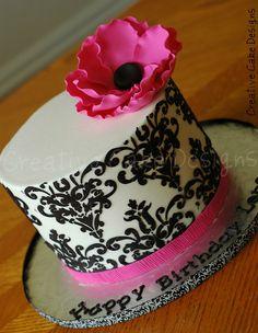 Buttercream Fancy Damask by Creative Cake Designs (Christina), via Flickr