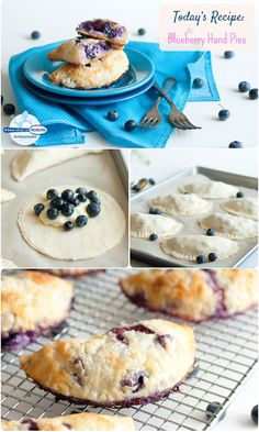 These mini hand pies baked with sugared blueberries, vanilla and Philadelphia Cream Cheese filling are the perfect mess-free dessert for a summer gathering! #recipe #desser