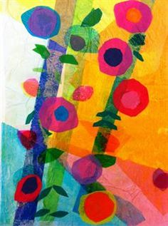 Artsonia Art Gallery - 3rd Grade Tissue Paper Flower Collage (Cacace)
