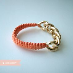Loooove this whole Etsy shop!  helloberry Bracelet Peach Smoothie by helloberry on Etsy, $26.00