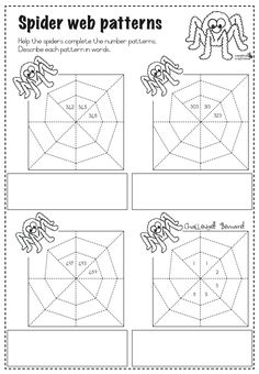 FREE MATH LESSON - SpiderWeb Number Patterns - Go to The Best of Teacher Entrepreneurs for this and hundreds of free lessons. Math Patterns, Number Patterns, Fun Classroom Activities, Math Classroom, Holiday Activities, Classroom Ideas, Kindergarten Lessons, Math Lessons, School