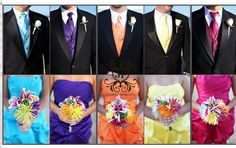 Groomsmen and bridemaids #RainbowDelight