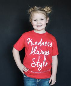Loving this Red 'Kindness' Tee - Infant, Toddler & Kids on #zulily! #zulilyfinds