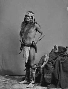 Navajo man serving as a scout for the U.S. Army - 1883