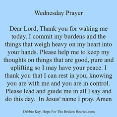 Wednesday Prayer good morning wednesday happy wednesday good morning wednesday…