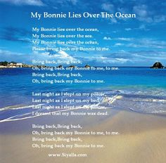 My Bonnie Lies Over The Ocean - Nursery Rhymes ~ Kids Poems - Poems for Kids, Best Kids Poems Collection from SiYaLLa