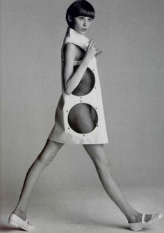 Andre Courreges cut-out dress, mid 1960s.