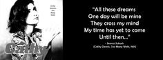 """""""My time has yet to come..."""" #CathyDennis #1991Hits #TooManyWalls #FBCoverPhotos #SeemaSubash"""