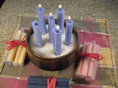 Make petite beeswax taper candles - easy, rustic, beautiful.: Finished Sets of Eight Petite Rolled Beeswax Candles Taper Candles, Beeswax Candles, Homemade Soap Recipes, Homemade Candles, How To Make Homemade, Home Made Soap, Candle Making, Soap Making, Projects For Kids