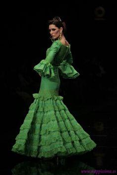 Vestido de Flamenco Verde