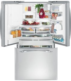 I like this one because it has an ice maker and I like the freezer drawer at the bottom with refrigerator on top.