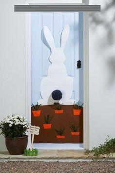 40 ideias de decoração de portas para Páscoa - Aluno On