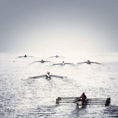 Rowing off into the distance #rowing