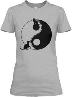 Discover Cute Cats Playing With The Yin Yang Damen T-Shirt from Cats and Dogs, a custom product made just for you by Teespring. Cat Lover, Cat Shirts, Yin Yang, Cool Cats, Dog Cat, Kittens, Pets, Mens Tops, Gifts For Cats