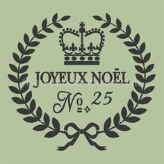 Euro Stencil Design ... Joyeux Noel No 25 Merry Christmas French used for burlap…