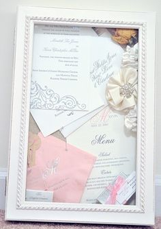 Wedding Shadow Box - I would love to make this for wall decor in our home.