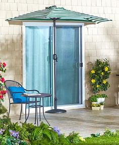 "Use the Half Umbrella Collection to stay cool in smaller spaces. The Half Rectangular Umbrella (89""W x 54""D x 99""H) or the Half Round Umbrella (104""W x 55""D x 92-1/4""H) saves space without sacrificing shade and fits nicely on a balcony or small patio. Th"