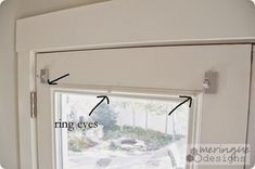 Attractive Magnetic Curtain Rods For French Doors    How To Sew Roman Shades For  French Doors