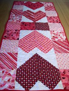 (7) Name: 'Quilting : Charming Hearts Table Runner Pattern